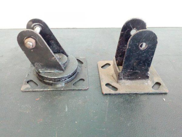 Soportes fijos y giratorios para ruedas